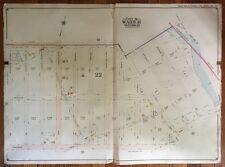 ORIGINAL 1904 MARINE PARK, FLATLANDS, GERRITSEN'S CREEK, BROOKLYN, NY ATLAS MAP
