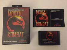 Sega Mega Drive Spiel Mortal Kombat CIB / OVP Sammlungsauflösung