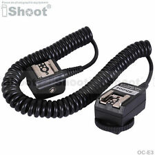 Flash Cable E-TTL 2-zapatos Sync Cord fr Canon Cámara & 580EX 430EX II 220EX