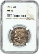 1956 50c NGC MS66 - Franklin Half Dollar