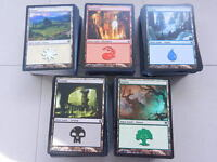 100 BASIC LANDS englisch magic the gathering swamp island mountain plains forest