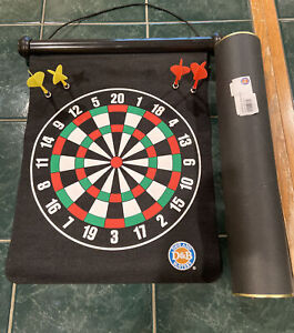 Dave and Buster's Magnetic Dartboard with 4 Magnetic Darts and Tube for Storing