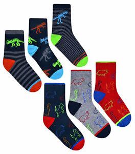 Boys Personalised Dinosaur Kids Black Socks Christmas Birthday Available in Infa