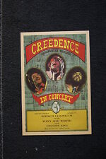 Creedence Clearwater Revival Tour Poster 1972 Louisiana