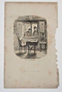 "1838 Cruikshank Etching ""Monks and the Jew"" British Humor Free Shipping"