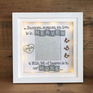 LED Light  Box Frame Remembrance Bereavement Gift Heaven Scrabble Personalised