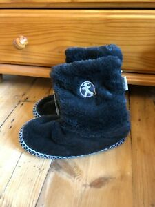 Bedroom Athletics ugg boot faux fur slippers size 3 BNWT black