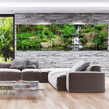 Framed Stretch split canvas prints landscape forest waterfall landscaping summer