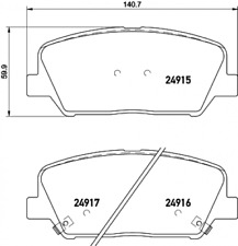 Textar Bremsbelagsatz für Hyundai i30/Kia Ceed/Optima - Nr. 2491501