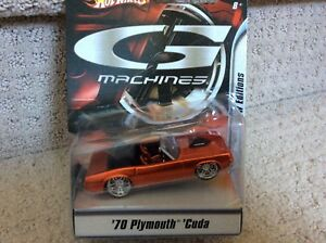 HOT WHEELS G MACHINES NEW EDITIONS '70 PLYMOUTH CUDA