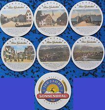 Bierdeckel Serie Sammlung - Schweiz - Sonnenbräu Rebstein Rhintaler Bier Geschic