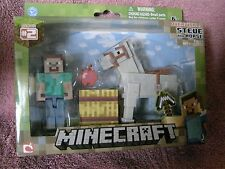 Brand New Minecraft Series 2 Overworld Steve and Horse Fully Articulated Set