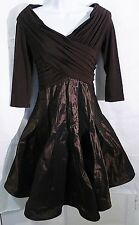 Tadashi collection flare cocktail party prom dress long sleeve size 6P