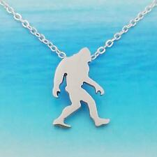 """Bigfoot Necklace 15"""" Chain Sasquatch Pendant Outdoor Camping Mountain Wilderness"""