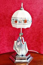 Vintage Royal Doulton Table Lamp with Porcelain Lady Figurine