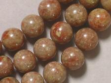 "Gemstone Autumn Jasper 10mm Round Loose Beads 7.5"" Half Strand 19 beads"