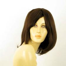 Perruque femme 100% cheveux naturel châtain ref SEVERINE 6