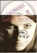 LAURA PAUSINI - incancellabile PROMO CD SINGLE 2TR CARD 1996 RARE!