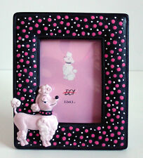 ReTrO DeSiGn! Pink Poodle Polka Dot 3D Picture Frame Too Cute!! NEW VP