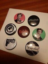 More details for  7x joblot britpop british rock pop bands badges pin button alterkicks replica