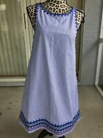 Vineyard Vines NWT Geo Prep Embroidered Swing Dress Marlin Size 8 (I1677)