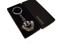 Genuine Scania Truck V8 Logo Chunky Enamel Metal Key ring Keyring BNIB New