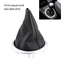 Manual Gear Shift Lever Boot Cover PU Leather For Suzuki Swift SX4 2005-2010 AP
