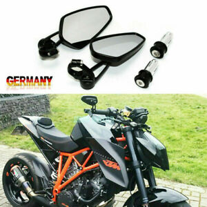 """🔰 7/8"""" 22mm Motorrad Spiegel Lenkerendenspiegel Rückspiegel Aluminium"""