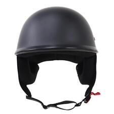 Demi Casque De Moto Mate Bol Retro Housse Visage Ouverte Avec Pare-soleil Noir