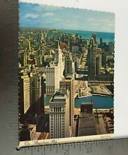 Vintage Postcard The Magnificent Mile Chicago Illinois Ariel View Circa 1964
