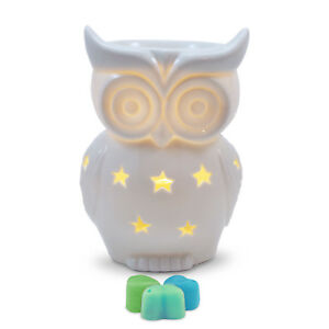Owlchemy Snowy Owl Electric wax burner  (tart warmer) with light & summer scents