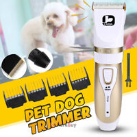 Electric Pet Hair Clipper Remover Cutter Grooming Cat Dog Trimmer Rechargeable