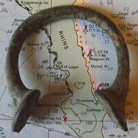 Old 18th Century Bronze Manilla Penanular African Slave Trade Bracelet Money e