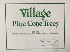 "Dept 56® Village Accessories Pine Cone Trees 9"" (Set of 2) - Brand New"