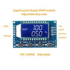 Signal Generator PWM Pulse Frequency Duty Cycle Adjustable Module LCD Display UK
