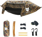 440 Lb Night Cat Camping Hammock Tent with Mosquito Net Rain Fly Backpacking Bed