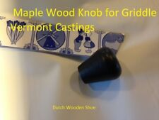 1 VERMONT CASTINGS BLACK  Maple Wood Knob handle for Griddle   1600661