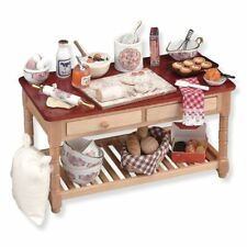 Dolls House Miniature 1:12th Scale Reutter Porzellan Baking Table