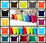 "Luxury Plain Cushion Cover 100% Cotton Dyed Pillow Case 16x16"",18x18"", 20x20"""