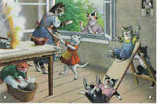 MAINZER  CATS  in Kitchen on metal