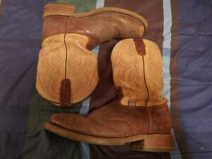 DOUBLE H SQUARE TOE BISON ICE ROPER STEEL TOE WESTERN BOOTS MENS 11D DH5305