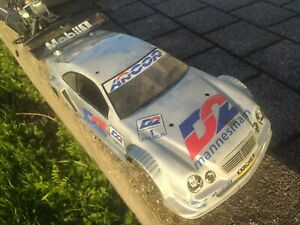 RC Auto 1/10 Kyosho Verbrenner, D2 Mannesmann, Mercedes CLK, DTM, 4WD
