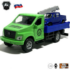 GAZon NEXT Tow Truck with UAZ Diecast Car Scale 1:50 Russian Model Toy Cars