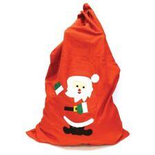 Santa Sack 60cm Stocking Merry Christmas Large Xmas Gift Hessian Present Bag