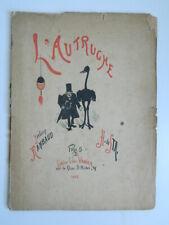 YVELING RIMBAUD L'AUTRUCHE Illustré par H. de STA 1882 VANIER Humour E.O
