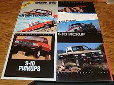 1982-1987 Chevrolet S-10 Pickup Sales Brochure Lot of 6 Chevy 83 84 85 86 87