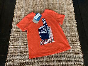Boys Toddler College Auburn Orange Short Sleeve Shirt Top Sz 18-24M Old Navy