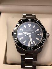 Tag Heuer WAY111A.BA0928 Black Aquaracer Watch Mens BOX MINT CRYSTAL 300M 41mm