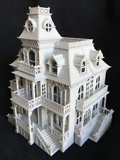HO Scale Gray Miniature Victorian Mansion Train Layout Haunted House