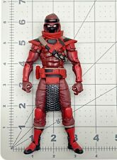 "1/12 scale Gi joe 6"" figure Classified series Cobra Red ninja body head only"